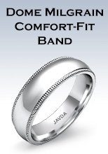 Dome Milgrain Comfort-fit Band Rings