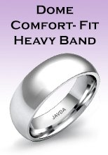 Dome Comfort-Fit Heavy Band Rings
