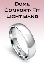 Dome Comfort-Fit Light Band Rings