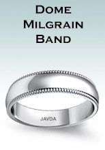 Dome Milgrain Band Rings