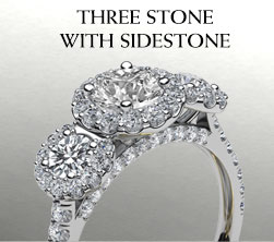 Three Stone with Sidestone Ring