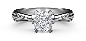 Cushion Classic Solitaire Ring