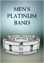 Mens Platinum Band
