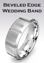 Bevelled edge wedding band