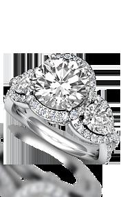 3 stone sidestone ring