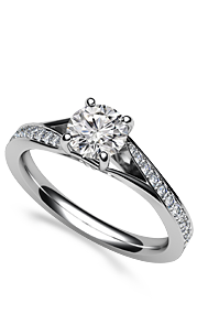 classic side-stone ring