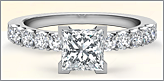 Classic Sidestone Diamond Ring