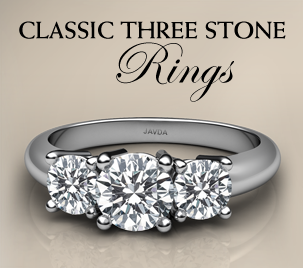 classic three stone ring