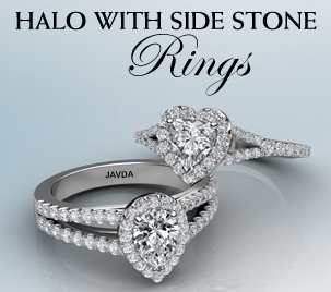 halo with side stone ring