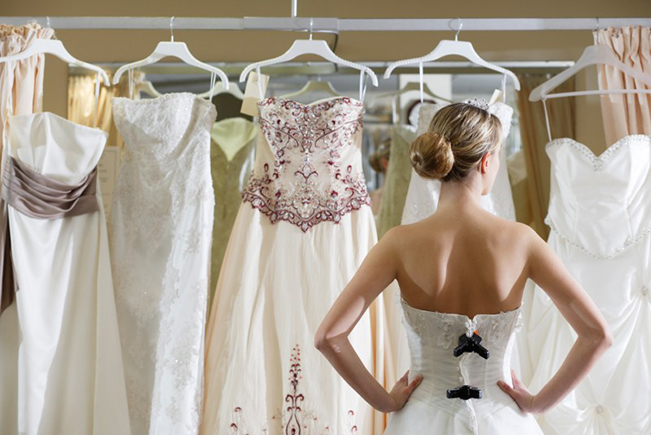 Be innovative with your wedding dress
