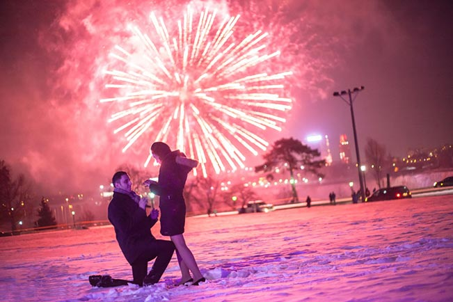 Unique Way Of Fireworks Proposal