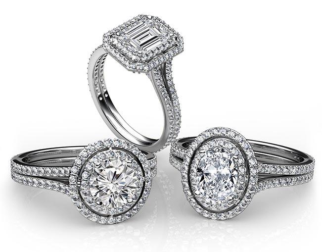 halo diamond engagement ring