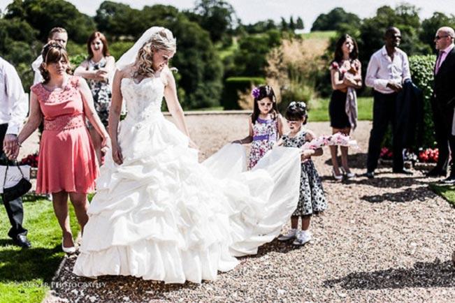 Spider-on-the-dress-wedding-day