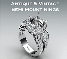 antique & vintage semi mount rings