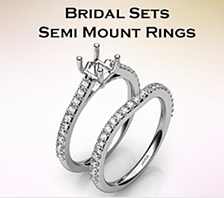 bridal sets semi mount rings