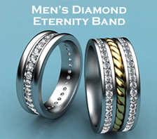 mens diamond eternity band