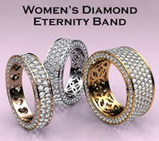 womes diamond eternity band