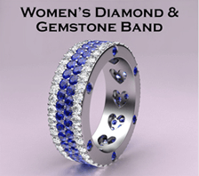 womens diamond gemstone band