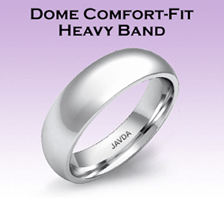 dome comfort fit heavy band