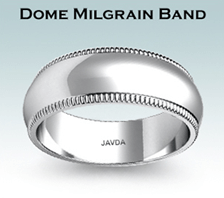 dome milgrain band