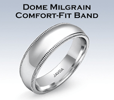 dome milgrain comfort fit band