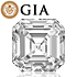 Asscher shape is diamond certified by GIA, 100% natural I color & VS1 clarity {0.56 ctw.} - javda.com