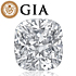Cushion shape is diamond certified by GIA, 100% natural D color & VVS1 clarity {0.42 ctw.} - javda.com