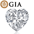 Heart shape is diamond certified by GIA, 100% natural F color & SI2 clarity {0.96 ctw.} - javda.com