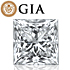 Princess shape is diamond certified by GIA, 100% natural F color & SI2 clarity {0.96 ctw.} - javda.com