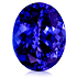 3 Ct Oval Cut Blue Tanzanite Gemstone - javda.com