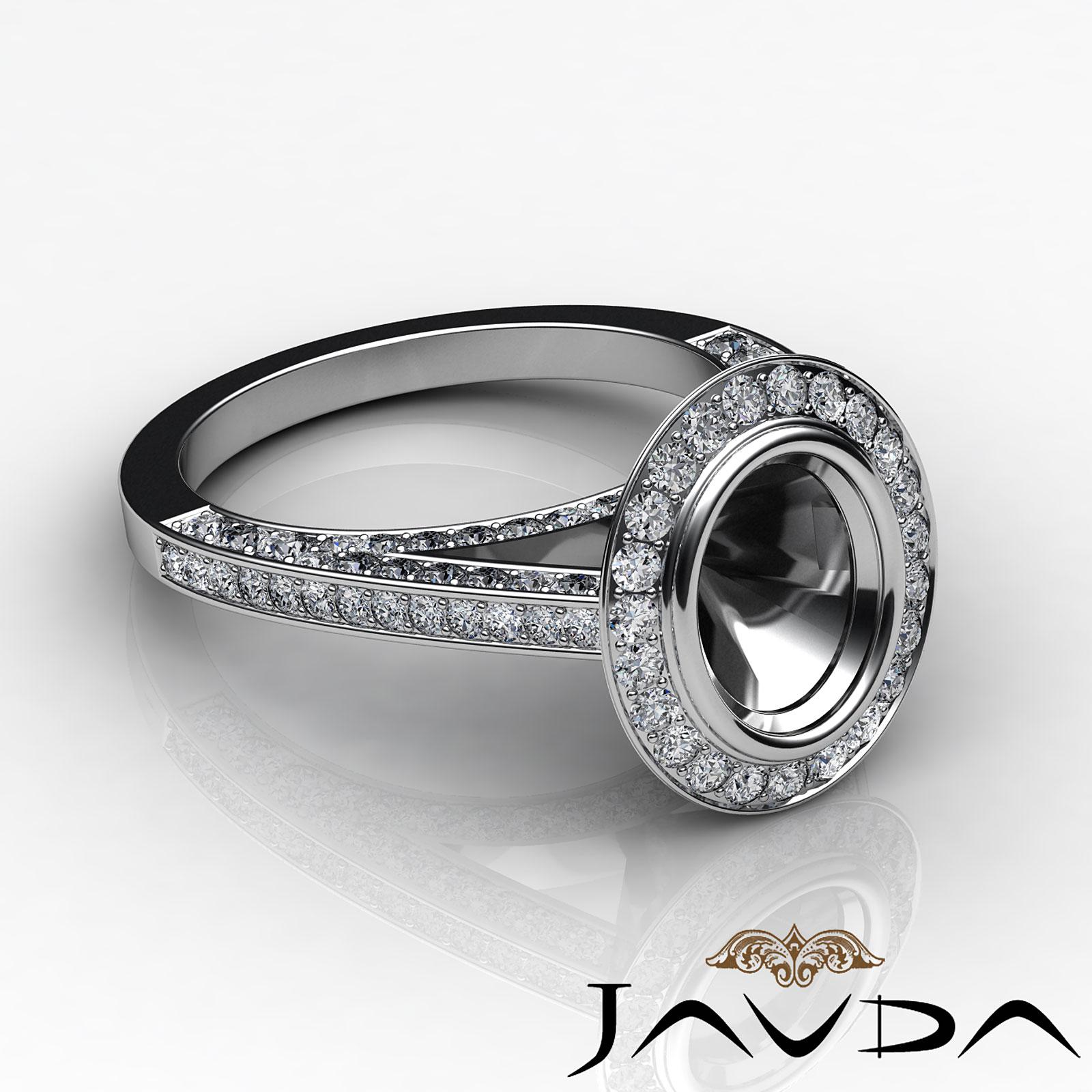 diamond engagement ring oval cut semi mount bezel setting. Black Bedroom Furniture Sets. Home Design Ideas