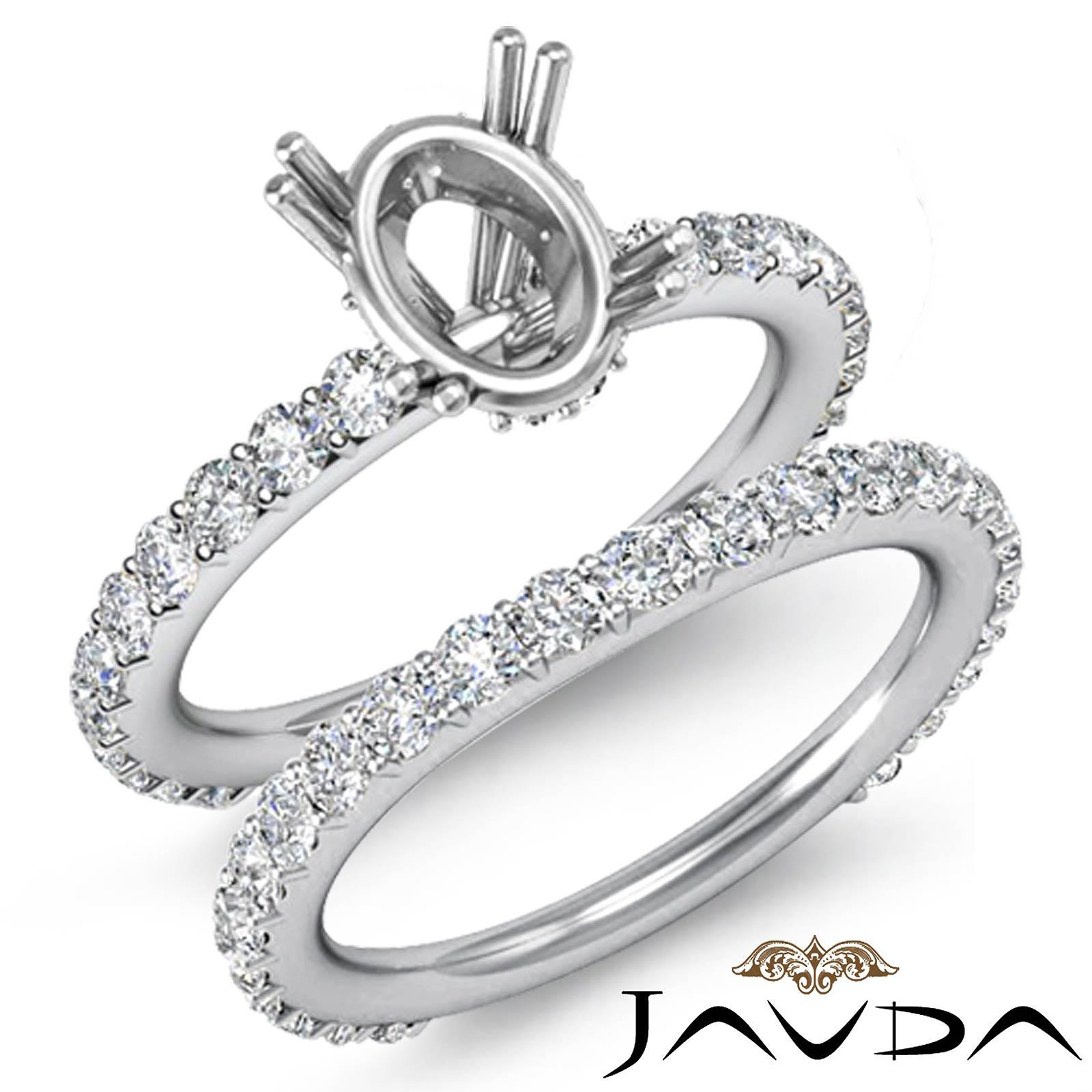 diamond engagement half eternity ring oval bridal settings. Black Bedroom Furniture Sets. Home Design Ideas