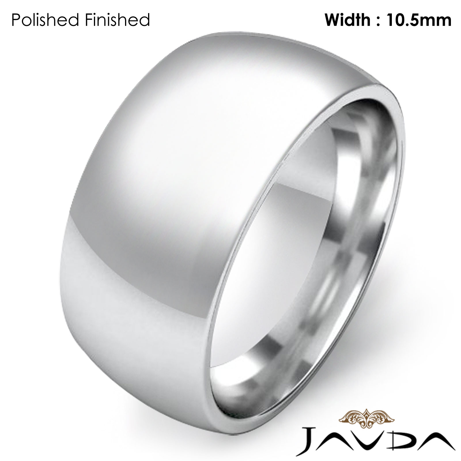10 5mm wedding band solid dome comfort fit ring