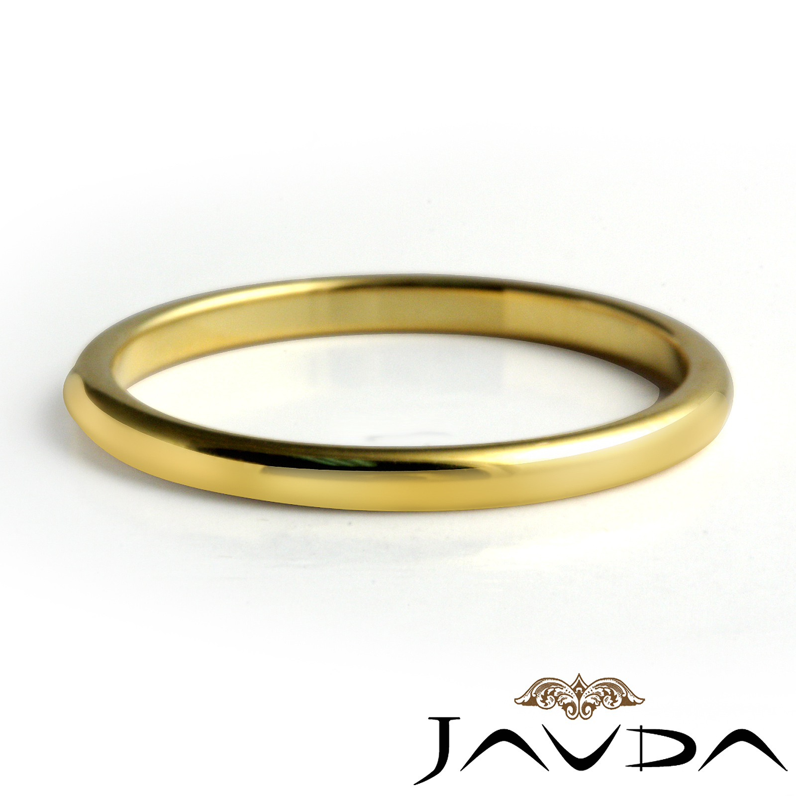 mens tungsten carbide wedding thin band gold plated