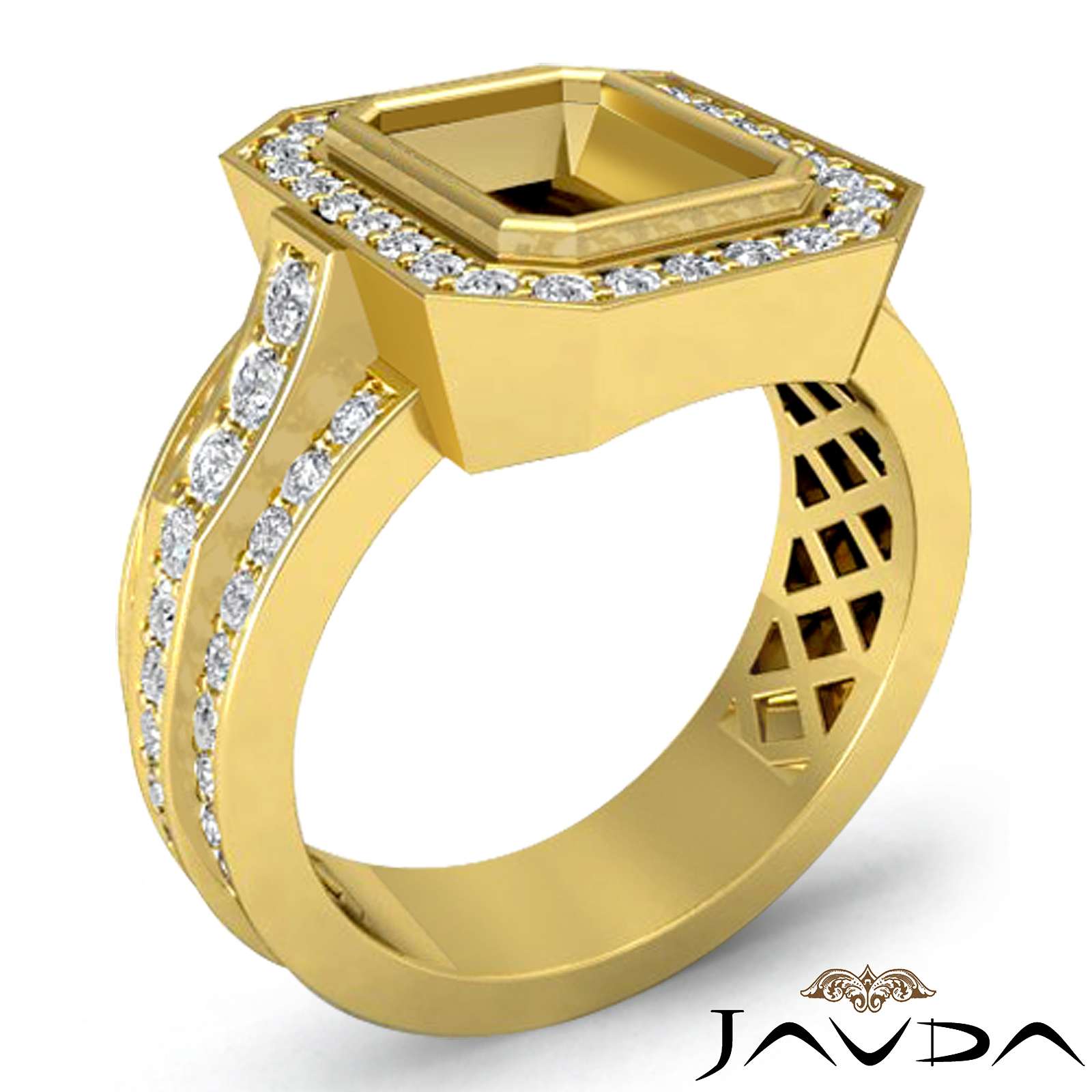 diamond anniversary ring 14k yellow gold emerald shape. Black Bedroom Furniture Sets. Home Design Ideas