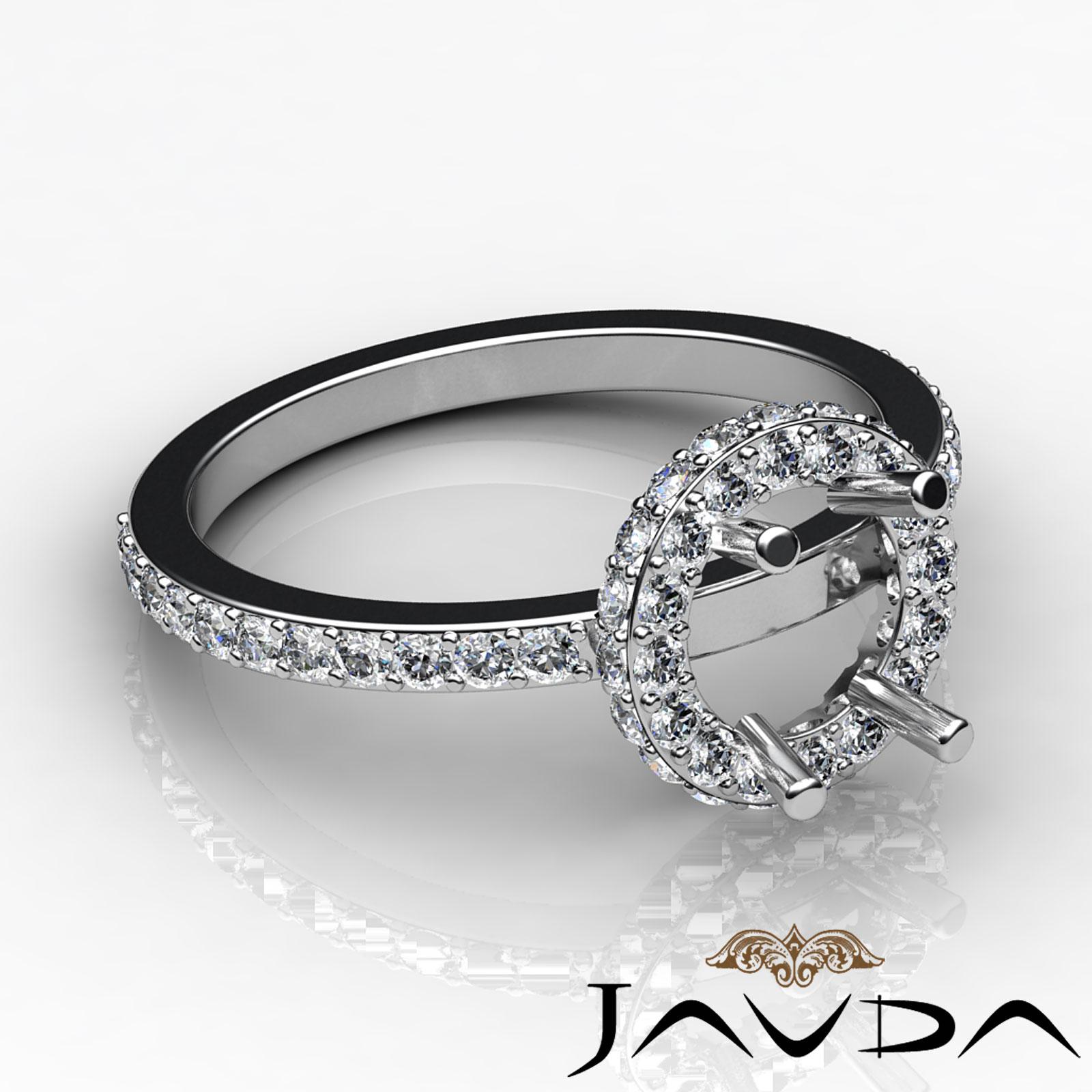 unique pave engagement proposed ring 14k w gold
