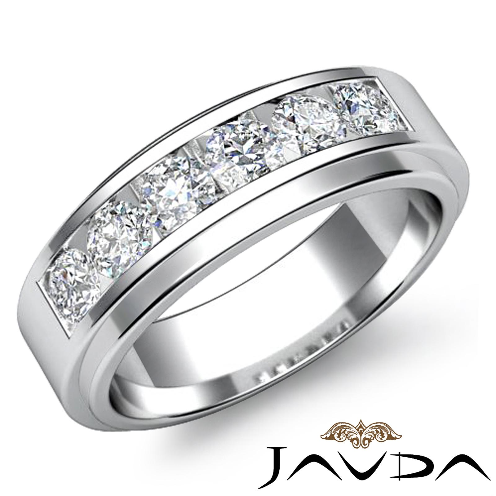 channel sets diamond mens wedding band 18k white gold. Black Bedroom Furniture Sets. Home Design Ideas