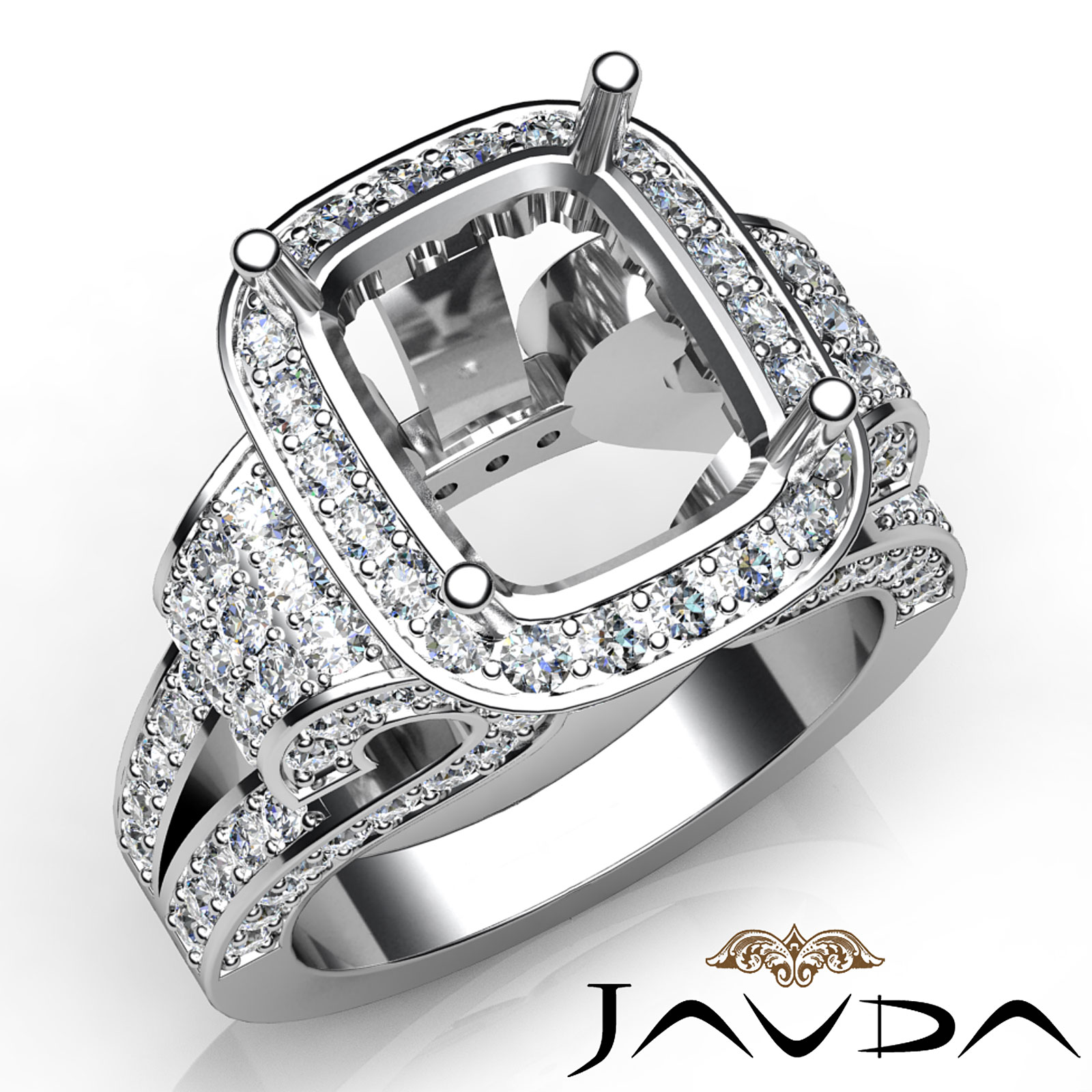 radiant diamond fine antique anniversary semi mount huge. Black Bedroom Furniture Sets. Home Design Ideas