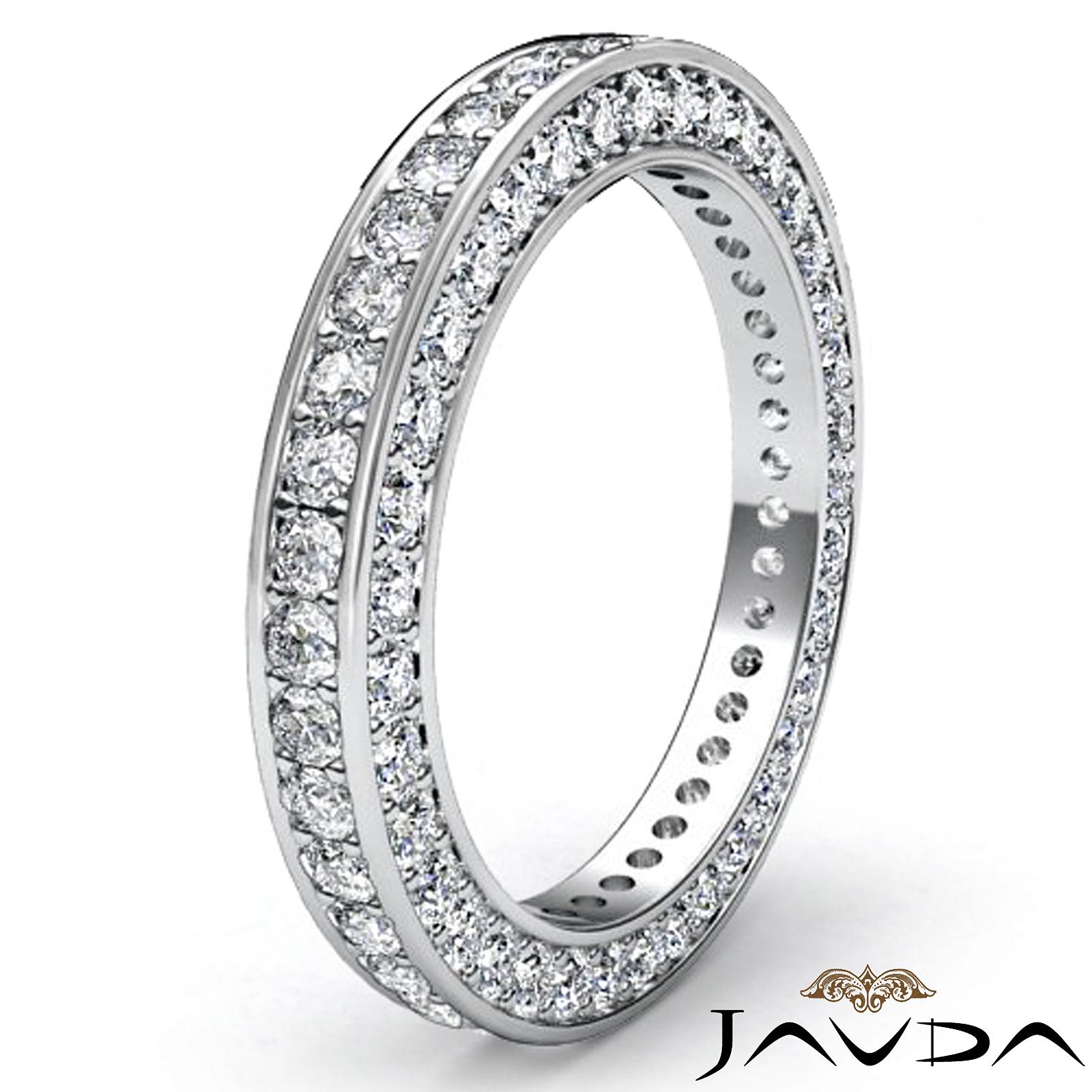 vintage round pave diamond eternity ring women 39 s wedding. Black Bedroom Furniture Sets. Home Design Ideas