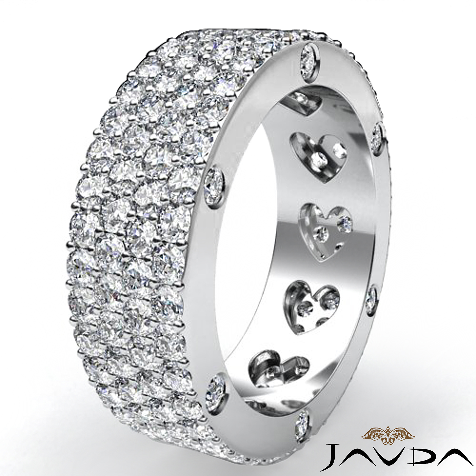Round Diamond Womens Wedding Band Eternity Engagement Pave