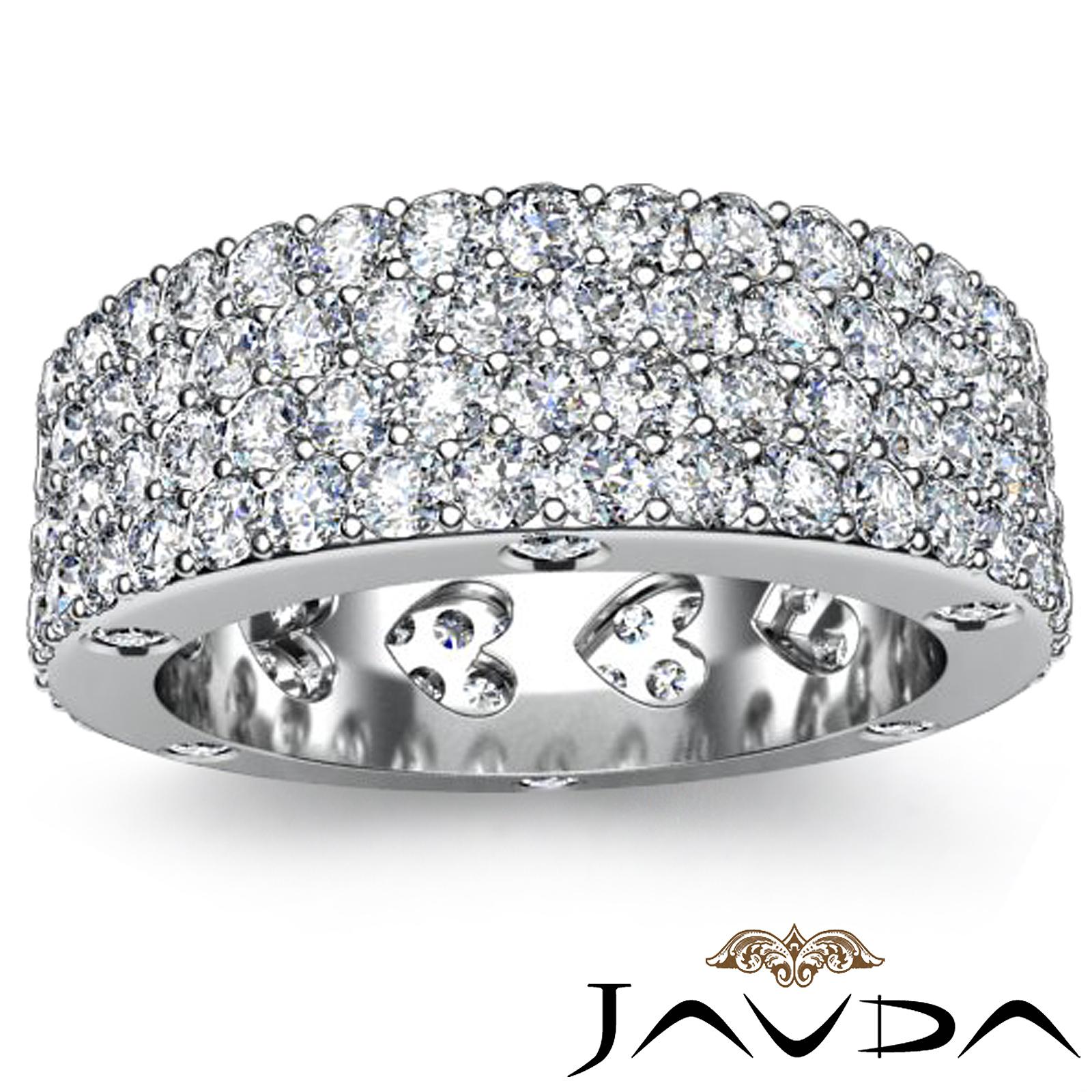 Round Diamond Womens Wedding Band Eternity Engagement Pave ...