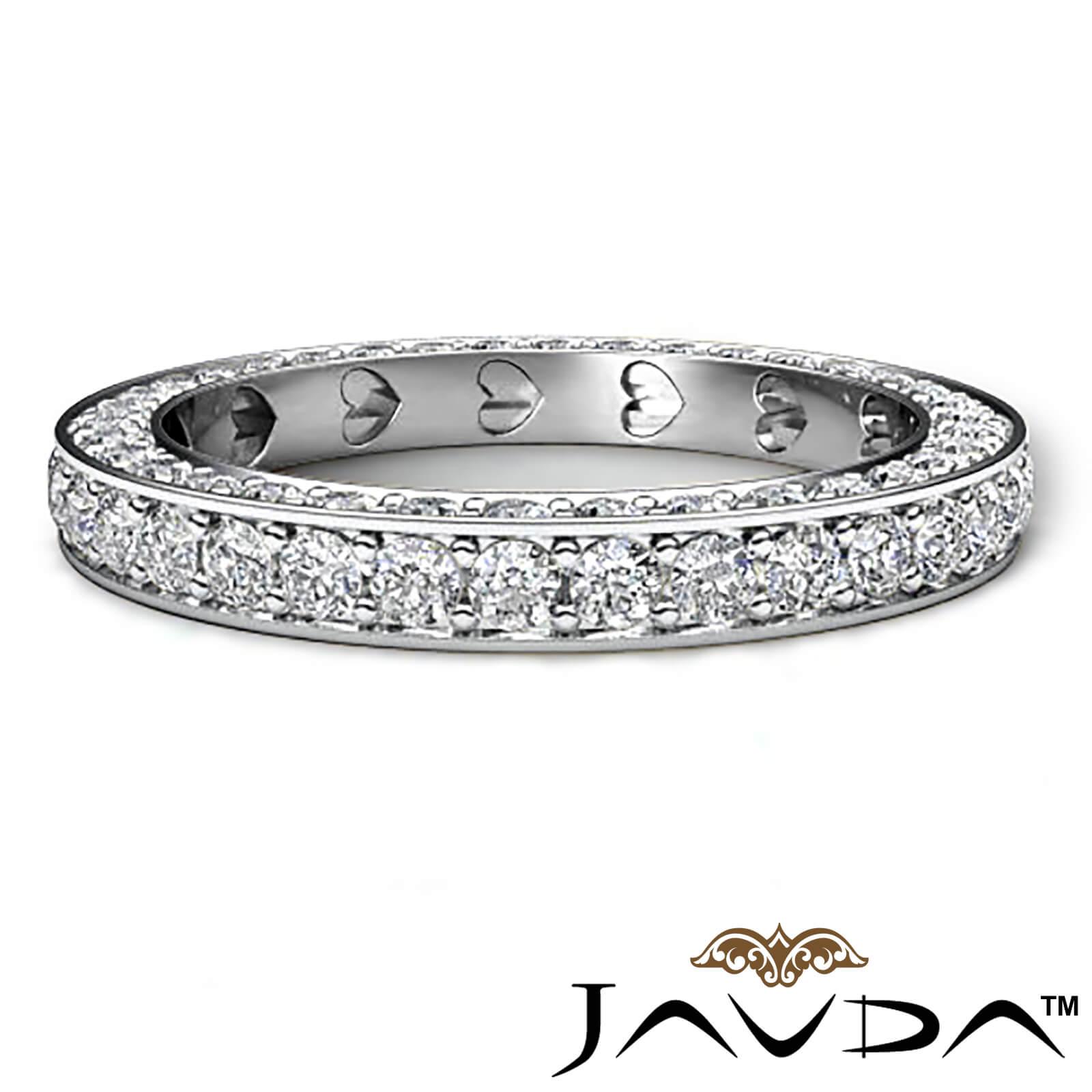 Women anniversary ring pave eternity diamond wedding band for Women s platinum wedding rings