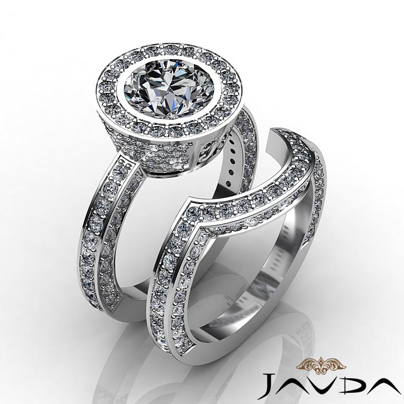 bridal set antique pave engagement ring