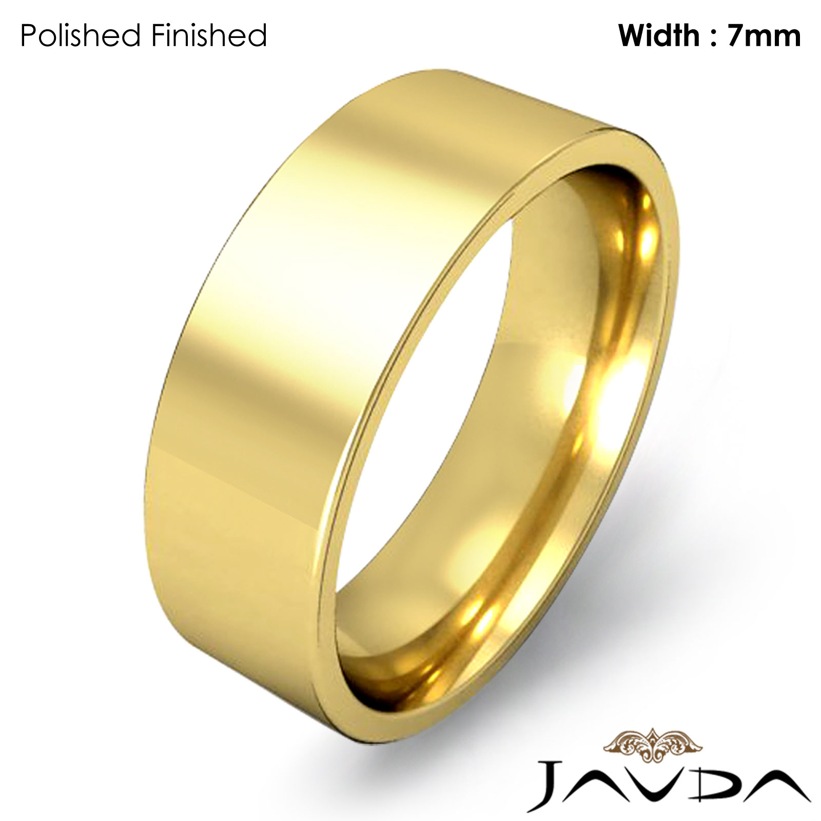 men 39 s wedding band comfort fit pipe cut ring 7mm 14k yellow gold 10gm