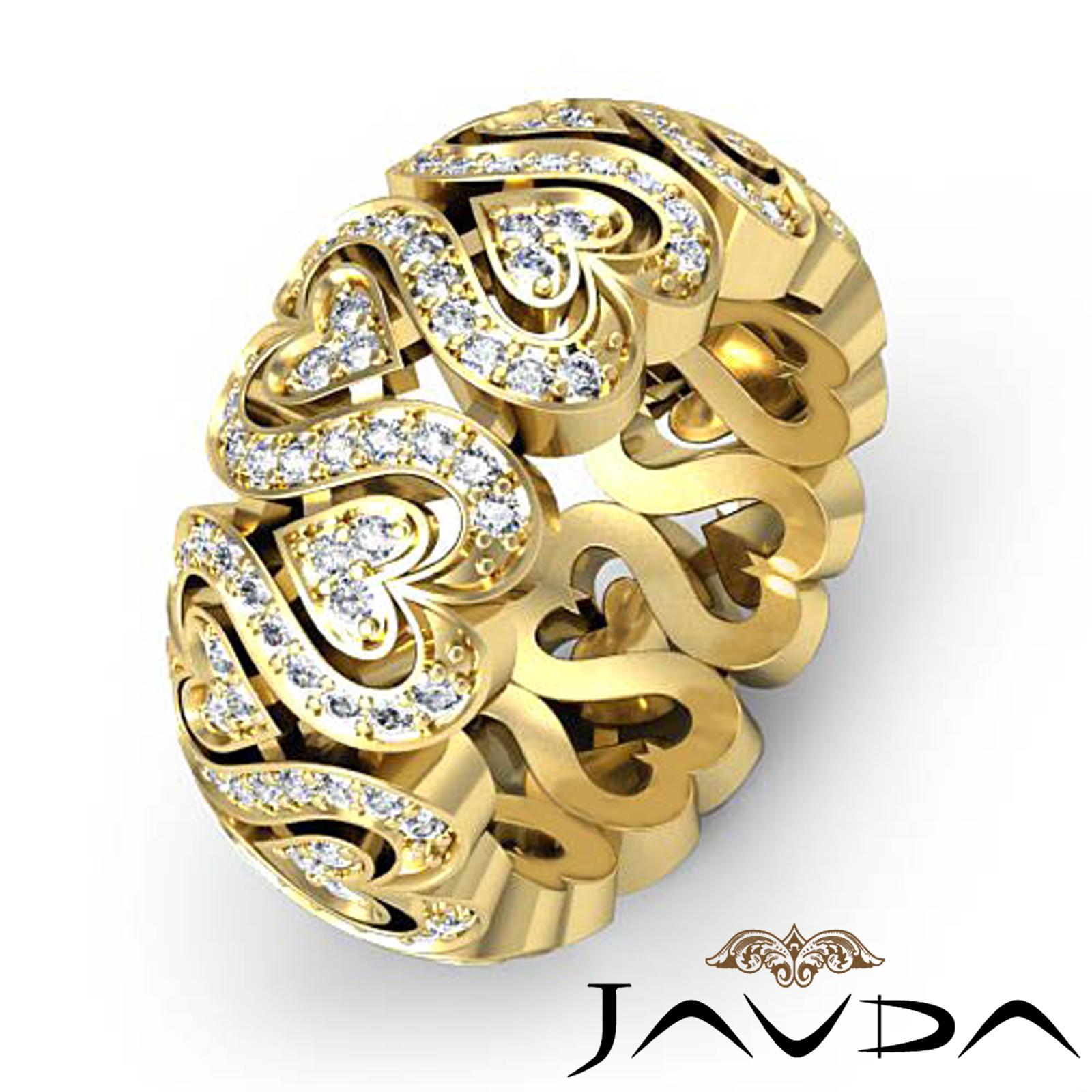 1 5CT Round Diamond Eternity Wedding Ring Band 18k Gold