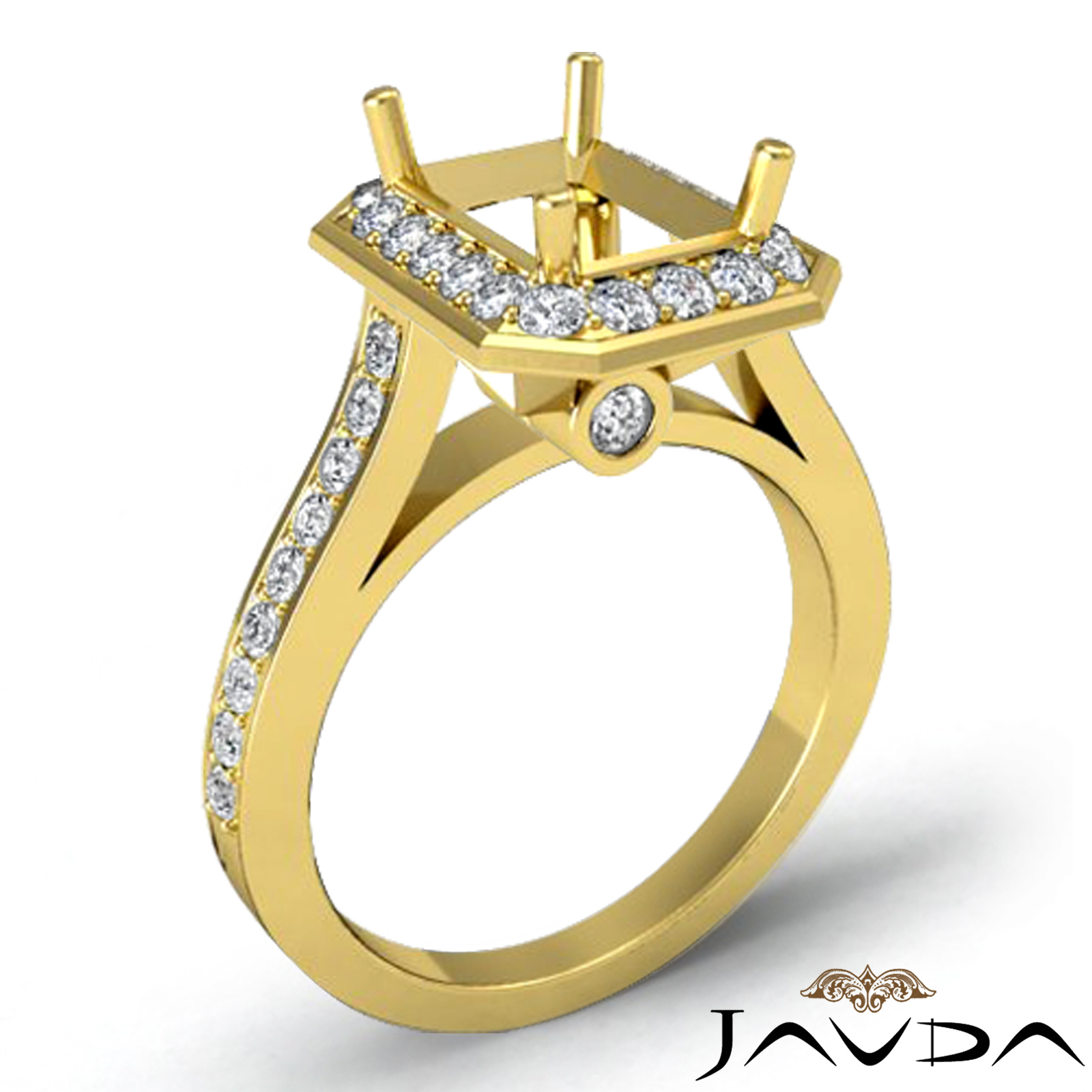 engagement ring 0 70ct 14k yellow gold emerald