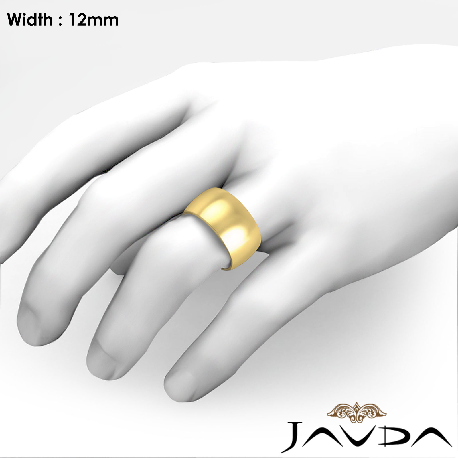 bands matvuk for fit her band plain yellow classic inspirational white of gold ring or domed com wedding lovely rings comfort