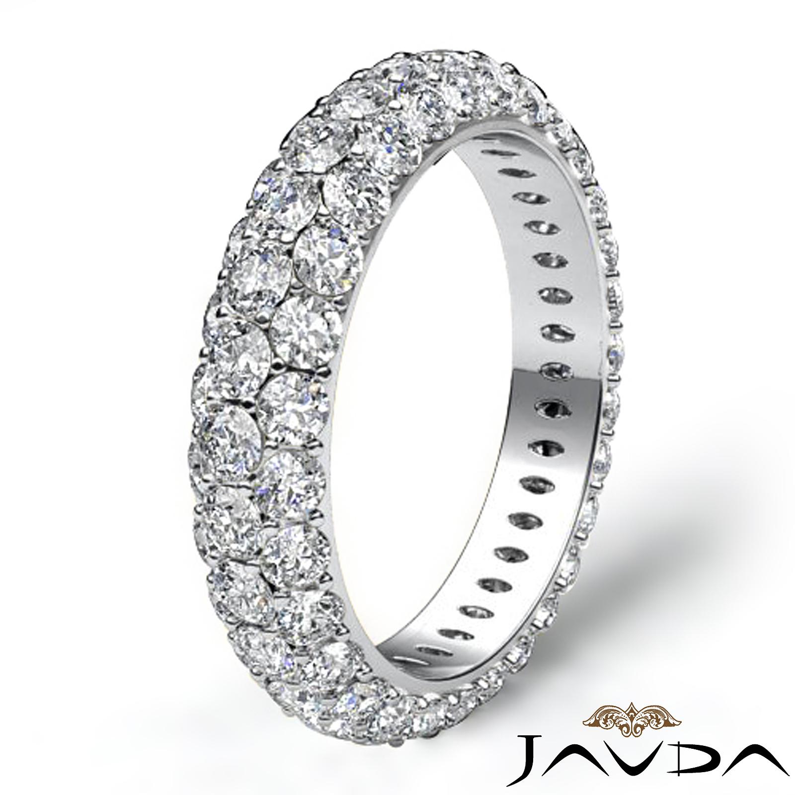 3 Row Diamond Engagement Women S Eternity Ring Wedding