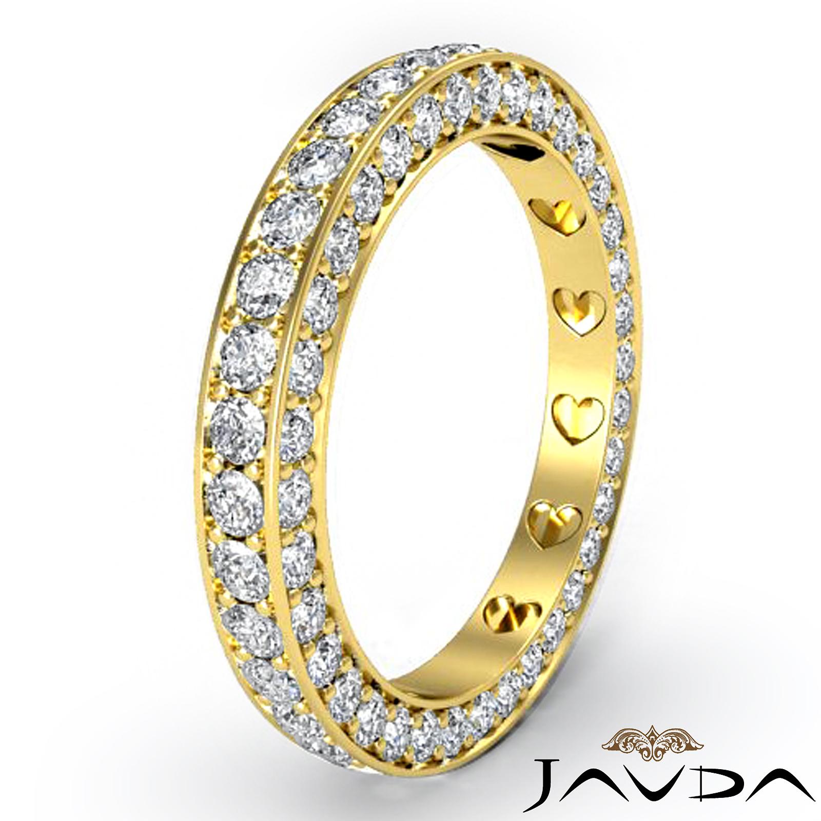 Women Anniversary Ring Pave Eternity Diamond Wedding Band