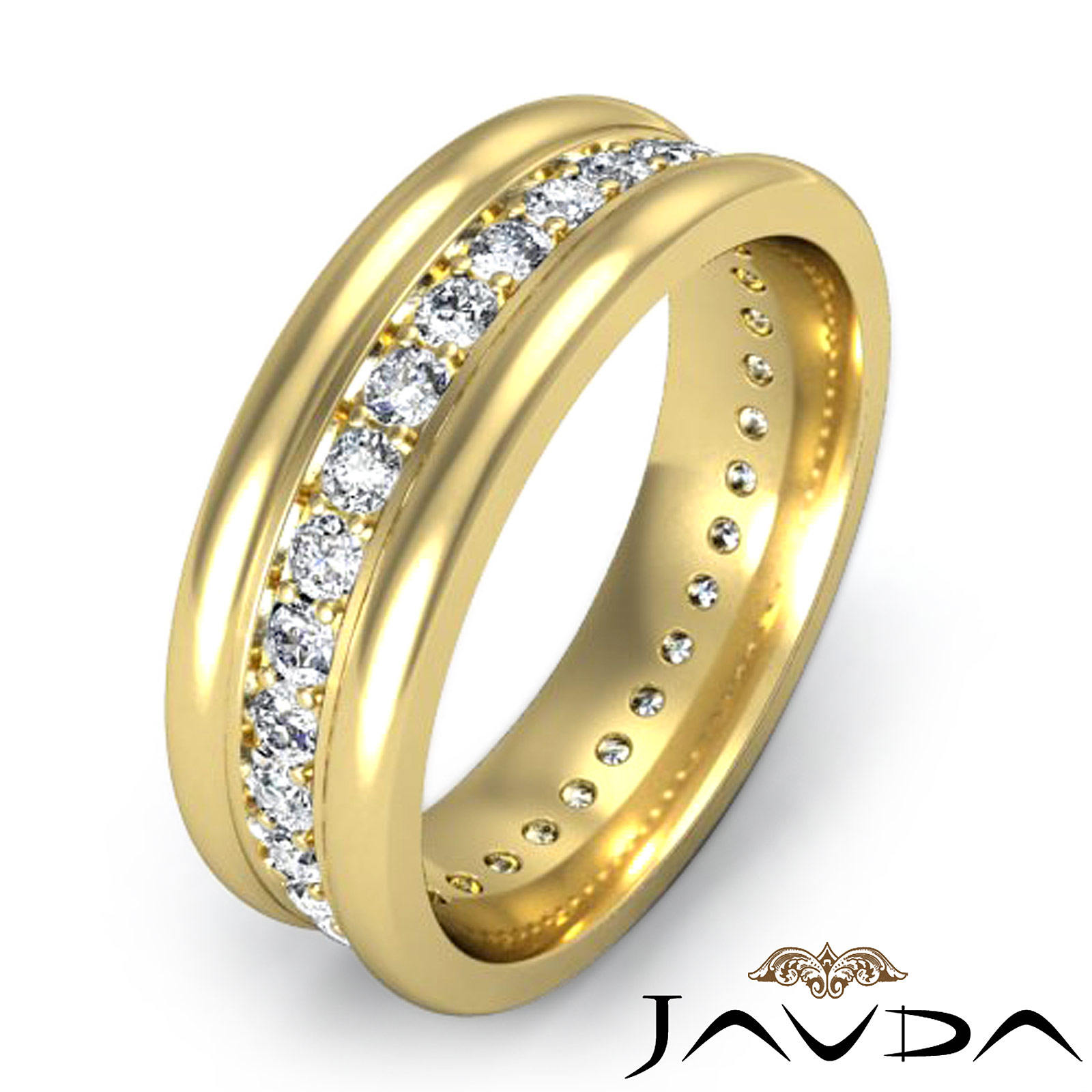 pave mens ring 18k yellow gold